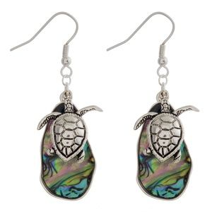 NWT***BOUTIQUE***ADORABLE TURTLE EARRINGS